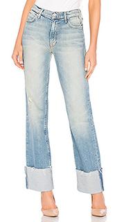 Широкие джинсы duster cuff fray - MOTHER