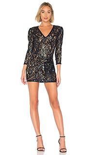 Мини-платье с длинным рукавом houston - MAJORELLE