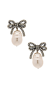 Серьги bow pearl - Marc Jacobs