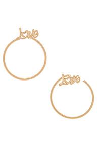 Серьги-кольца love - Natalie B Jewelry