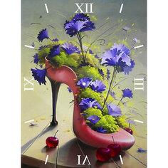 """Алмазная вышивка Color KIT """"Алмазные часы"""" Цветочная туфелька, 30х40 см"""