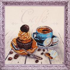 """Набор для вышивания бисером Color KIT """"Кофейный капкейк"""", 30х30 см"""
