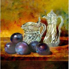 "Алмазная картина-раскраска Color KIT ""Натюрморт со сливами"", 40х40 см"