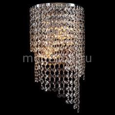 Накладной светильник 3102/2 хром/прозрачный хрусталь Strotskis Eurosvet