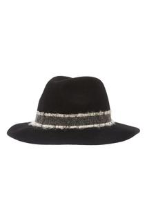 Черная шляпа с отделкой Adolfo Dominguez