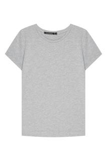 Серая футболка с короткими рукавами Blank.Moscow