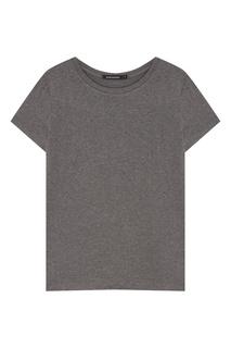 Темно-серая меланжевая футболка Blank.Moscow