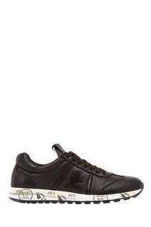 Черные кроссовки из кожи и текстиля Premiata