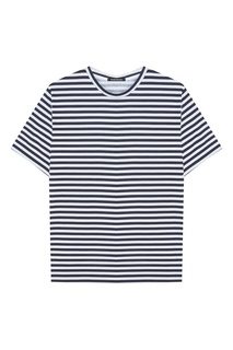 Белая футболка в полоску Blank.Moscow