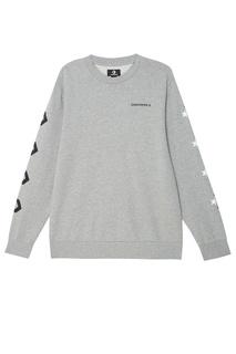 Серый свитшот с принтом Converse