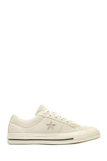 Белые замшевые кеды Converse