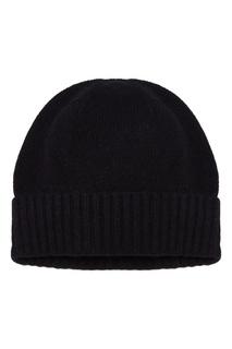 Черная шапка с отворотом Allude