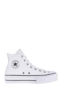 Высокие белые кеды Converse
