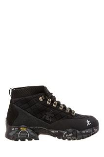 Черные ботинки на шнуровке Premiata