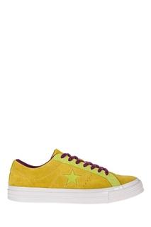 Желтые замшевые кеды Converse
