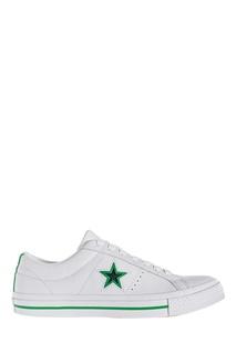 Белые кожаные кеды Converse
