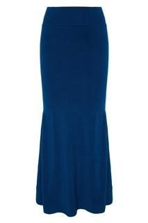 Синяя юбка макси 7КА