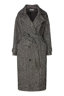 Двубортное серое пальто Erma