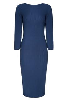 Синие платье миди 7КА