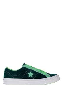 Зеленые кеды Converse