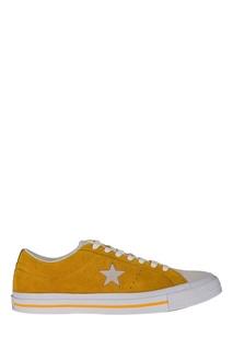 Оранжевые замшевые кеды Converse