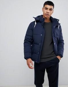 Дутая куртка со съемным капюшоном Jack & Jones Originals - Темно-синий