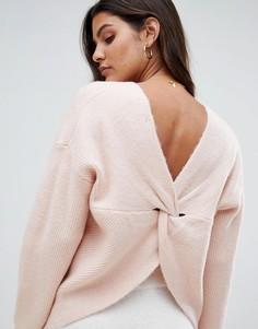 Джемпер с запахом на спине Micha Lounge - Розовый