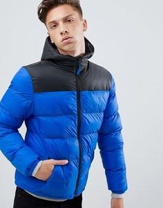 Дутая куртка с капюшоном Tokyo Laundry - Синий