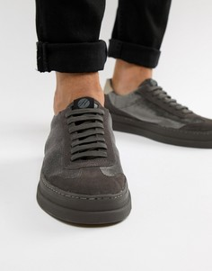 Серые бархатные кроссовки H By Hudson Bateley - Серый