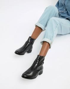 Черные кожаные ботинки с крокодиловым рисунком Office Ashleigh - Черный