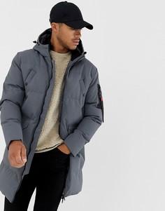 Длинная дутая куртка Soul Star - Серый