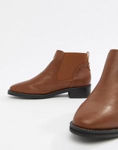 Ботинки челси на плоской подошве Truffle Collection - Рыжий