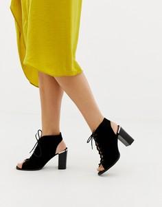 Босоножки на каблуке и шнуровке ASOS DESIGN Truly - Черный