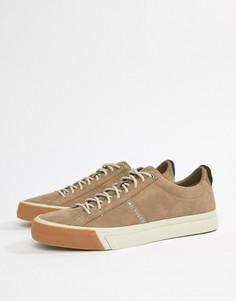 Серо-коричневые кроссовки в стиле дерби из нубука Tommy Hilfiger - Серый