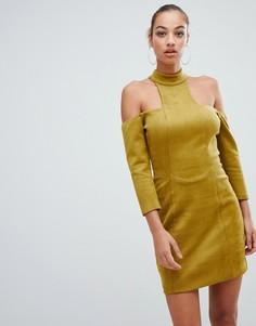 Платье мини с высоким воротом Forever Unique - Зеленый
