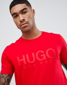Красная футболка с логотипом HUGO - Красный