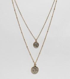 Золотистое многорядное ожерелье с подвесками DesignB London - Золотой