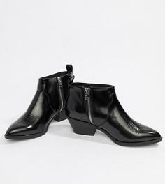 Черные ботинки в стиле вестерн Monki - Черный