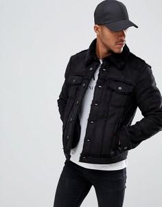 Черная куртка с искусственной овчиной Armani Exchange - Черный