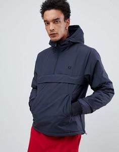 Темно-серая куртка с воротом на молнии Fred Perry - Серый