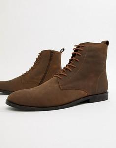 Кожаные ботинки на шнуровке KG by Kurt Geiger - Коричневый