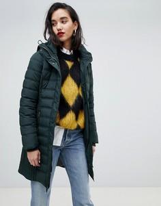 Дутая куртка с капюшоном Esprit - Синий