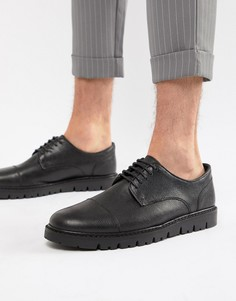 Черные туфли на танкетке и шнуровке WALK London - Черный