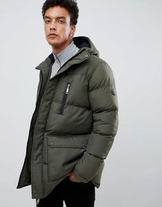Удлиненная дутая куртка цвета хаки Criminal Damage - Зеленый