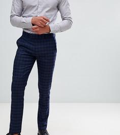 Темно-синие зауженные брюки в клетку Farah Hurstleigh - Темно-синий