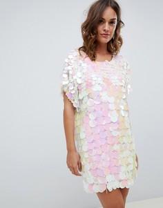 Платье-футболка с переливающейся отделкой A Star Is Born - Мульти