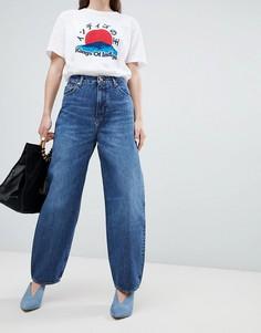 Укороченные широкие джинсы из органического хлопка Kings Of Indigo Leila - Синий