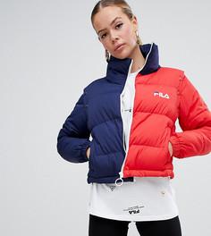 Дутая куртка со съемными рукавами в стиле колор блок Fila - Мульти