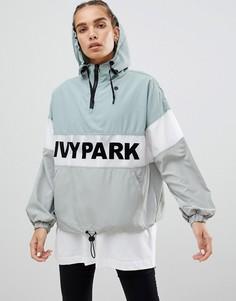 Куртка с полупрозрачной вставкой Ivy Park - Синий