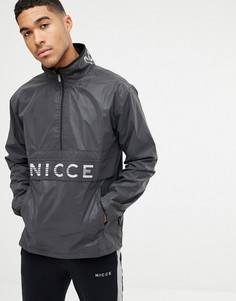 Черная куртка со светоотражающим логотипом Nicce - Черный